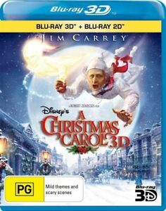 A Christmas Carol (Disney's) (2009) (3D Blu-ray/Blu-ray) Blu-ray NEW
