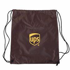 United Parcel Service Logo Lightweight Drawstring Back Pack/Sack Polyester Brown