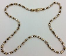 14K YELLOW AND WHITE GOLD TWO TONE CHAIN NECKLACE 18""