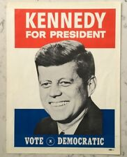 VINTAGE JOHN F. KENNEDY JFK PRESIDENT POLITICAL CAMPAIGN POSTER 1960 DEMOCRATIC