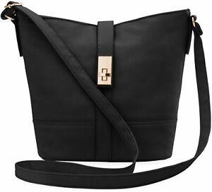 bequeme Damen Handtasche Damentasche Schultertasche schwarz