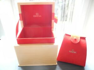 NEW LADIES OMEGA WATCH BOX WITH BOOKLET