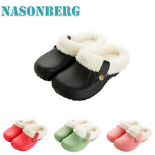 Womens Cozy Winter Warm Clogs Slippers Waterproof Indoor Plush House Shoes Size
