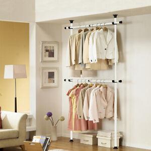 Adjustable Clothes Rail Rack Garment Dress Hanging Display Stand Storage Shelf