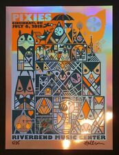 The Pixies 2018 Rainbow Foil Variant Concert Poster S/N By Artist Don Pendleton