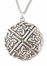 Large Celtic Knot Pendant2 Handcrafted in Solid Pewter In The UK + Free Gift Box