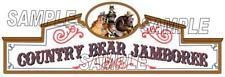 Disney World Disneyland Country Bear Jamboree Sign Scrapbook Die Cut Piece