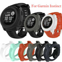 Silicone Frame Protector Case Cover Guard Shell For Garmin Instinct Smart Watch