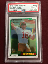 Joe Montana 2012 Topps Chrome 1981 Reprint Rookie Card PSA 10 Gem Mt 49ers
