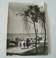 Vintage Real Photo Postcard Sea view Camp Golden Sands Bulgaria -1960