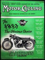 MOTOR CYCLING MAGAZINE OCT 25 1956 - MATCHLESS - MODEL G80S 500 CC OHV