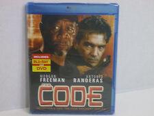 THE CODE  STARING MORGAN FREEMAN & ANTONIO BANDERAS! NEW! Blu-ray  2-Disc
