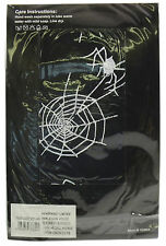 Halloween Black Tights With White Spider and Cobweb (pantyhose)