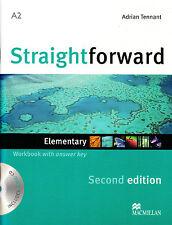 Macmillan STRAIGHTFORWARD Second Edition ELEMENTARY Workbook with Key & Audio CD