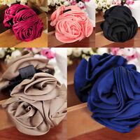 Mode Für Frauen Chiffon Mädchen Rose Blumen Bogen Haar Greifer Jaw Clip Clamp Ba
