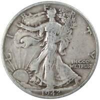 1942 S Liberty Walking Half Dollar VG Very Good 90% Silver 50c US Coin