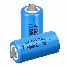 Pro Sale Blue 2pcs Ni-Cd 1.2V 2/3AA 600mAh rechargeable battery NiCd Batteries