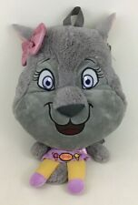 Happy-Go-Lucky Violet Wolf Backpack Buddies Plush Stuffed Great Wolf Lodge New