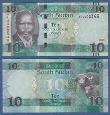 Sur de sudán/southsudan 10 pounds 2015 (2016) UNC p. New