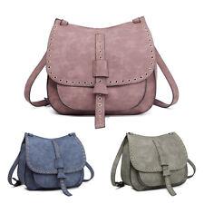 6687110e6e4d Women Designer Suede Cross Body Shoulder Saddle Bag Fashion PU Leather  Satchel