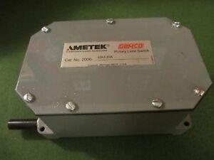 Ametek 2006-404L10A, Gemco, Rotary Limit Switch