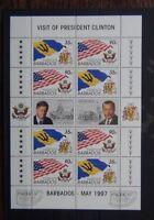 Barbados 1997 Visit of President Clinton of USA Miniature Sheet MNH