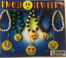 12 Emoji Emoticon Necklaces, Bracelets Party Favors Goody Bags Treat Boxes Pool