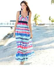 Vineyard Vines Womens Carolina Stripe Ocean Splash Lined Silk Maxi Dress 8