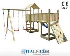 Altalena con Scivolo e Torre Giochi Giardino per Bambini in Legno ITALFROMBABY8