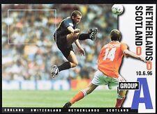 Netherlands V Scotland, Euro 96, 1996 Football Maximum Card Unused #C49489