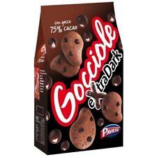 Pavesi Kekse Gocciole mit Kakao Extra Dark 400g kuchen cookies biscuits