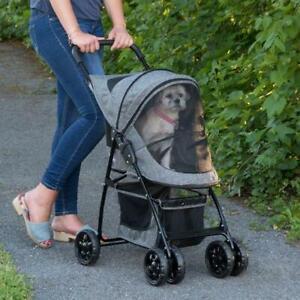 Pet Gear Stroller Happy Trails Pet Stroller Dark Platinum NEW