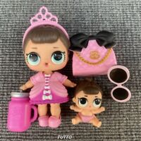 LOL Surprise Fancy Doll & Lil Fancy Sister Opposites Club Series 1 Girl Toy Gift