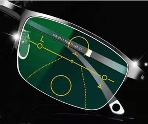 Half Rim Business Transition/Photochromic Progressive Multifocal Reading glasses