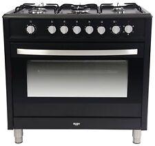Bush BRCNB90SEBK Dual Fuel Range Cooker 5 Gas Hobs FSD Compliant Black 90cm