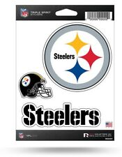 Triple Spirit Stickers NFL Pittsburgh Steelers Made in USA
