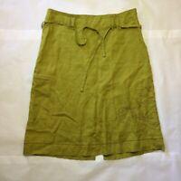 Patagonia Womens Water Girl Skirt Lime Green Hemp Size 8