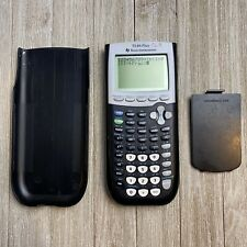 Texas Instruments TI-84 Plus Black Graphing Calculator with Front Cover [TESTED]