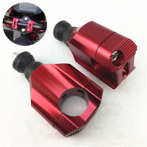 2x Red CNC Motorcycle 28mm Modified Handlebar Riser Clamp Accessories Universal