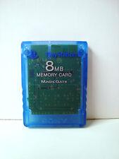 CARTE MEMOIRE PLAYSTATION 2 PS2 BLEU 8MB MEMORY CARD