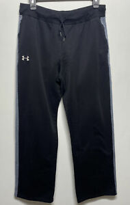 Womens Under Armour Fleece Lined Athletic Pants size large black drawstring