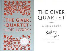 Lois Lowry~SIGNED~The Giver Quartet~1st/1st + Photos of Lowry & Jeff Bridges!!