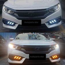 LED DRL For 2016-2018 Honda Civic 10th Gen Sedan Daytime Running light Fog Lamps