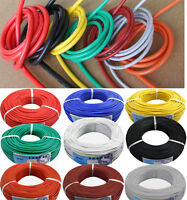 11 12 13 14 15 16 17 18AWG Flexible Silicone Wire Color Selectable 5M Lot