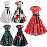 50s Womens Retro Style Rockabilly Pinup Housewife Party Vintage Swing Tea Dress