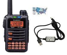 Yaesu FT-70DR Dual Band Digital HT Radio w/ Yaesu Compatible USB Charging Cable