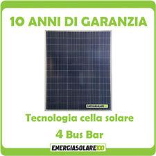 Pannello Solare Fotovoltaico 200W 12V Policristallino Batteria Barca Camper Auto