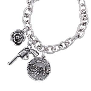 Guns N' Roses Triple Charm Bracelet