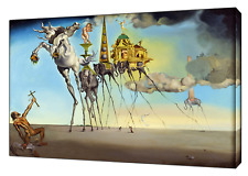 THE TEMPTATION OF ST ANTHONY BY SALVADOR DALI REPRINT ON CANVAS WALL ART DECOR