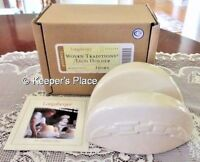 Longaberger Woven Traditions Pottery Ivory Taco Curling Iron Sponge Holder New